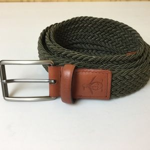 Penguin Web Belt Leather W/Stretch Poly Strar Sz M